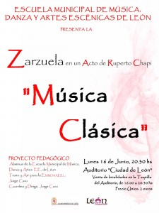 Cartel Zarzuela